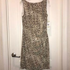 New Jones New York Dress Leopard Career Business